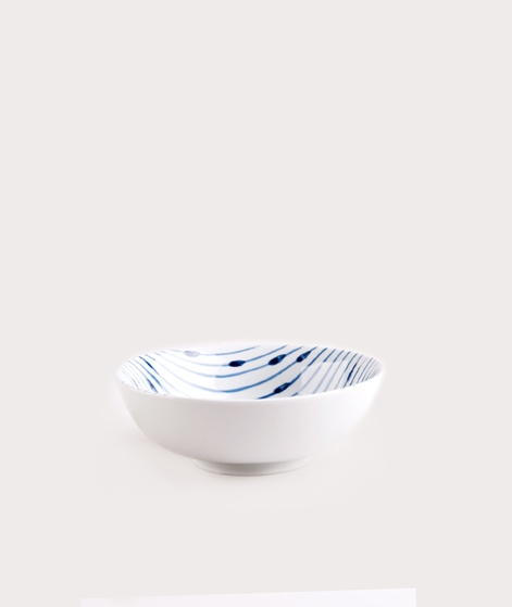 BROSTE Bowl Skagen String white blue