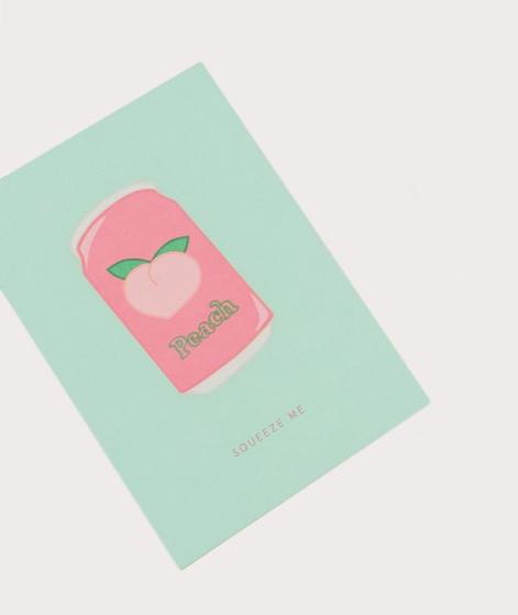 KAUF DICH GLÜCKLICH Postkarte Peach