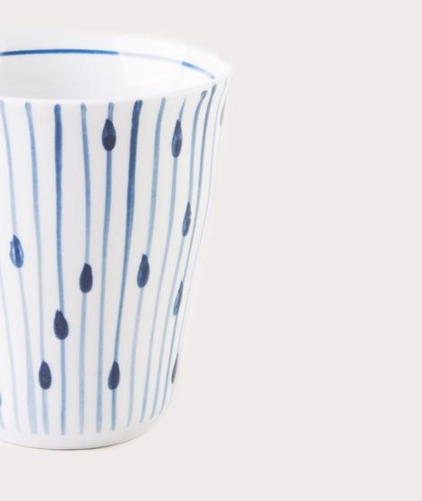 BROSTE Mug Skagen String white blue