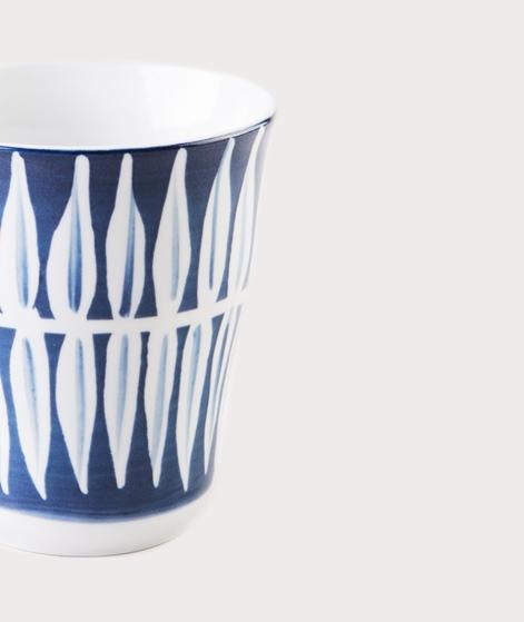 BROSTE Mug Skagen Leaf white blue