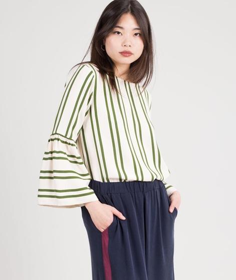 MOSS CPH Ronja jio LS Bluse ecru/green