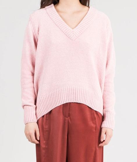 JUST FEMALE Velvet V-Neck Pullover