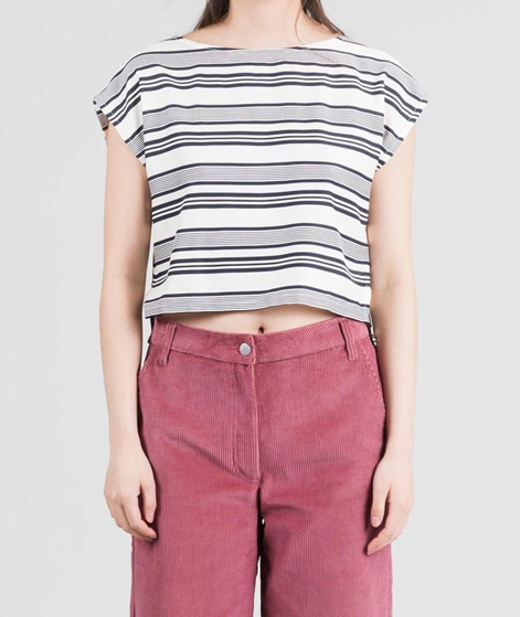 NATIVE YOUTH Bay Bluse blue white stripe