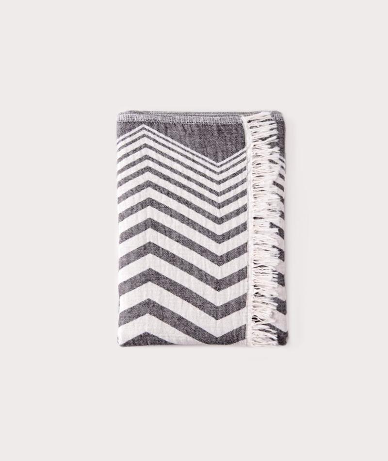 KAUF DICH GLUCKLICH ZigZag Towel black