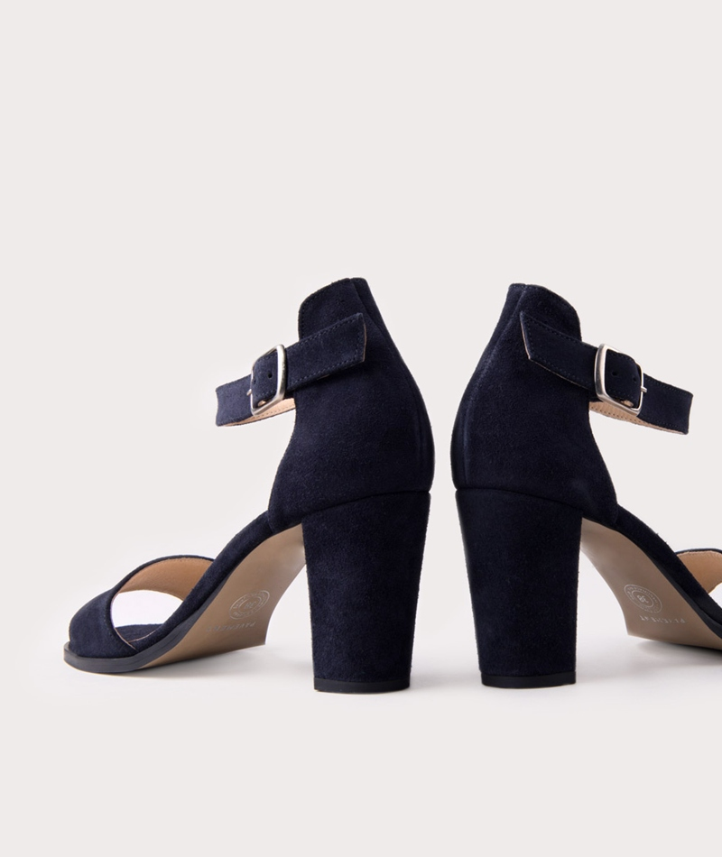PAVEMENT Silke Sandalette navy suede