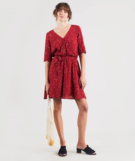 ANOTHER LABEL Gold Fancy Dot Kleid red