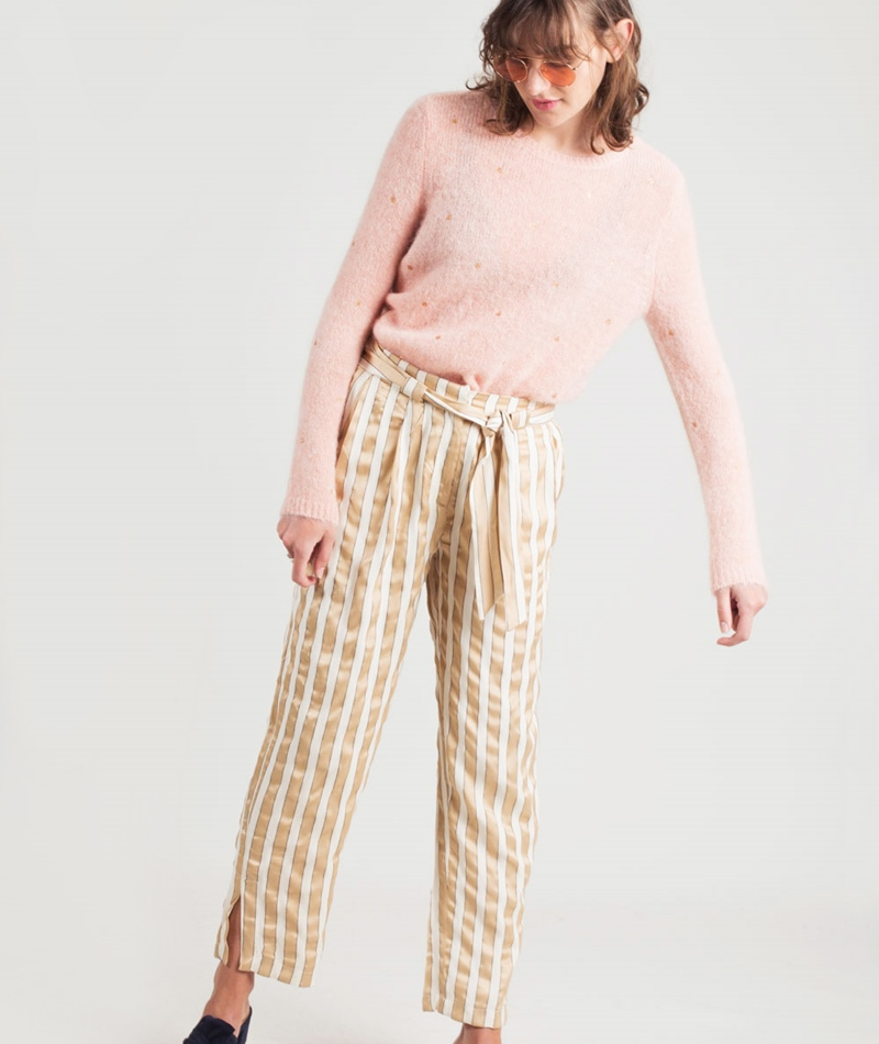 DES PETITS HAUTS Carmosa Pullover poudre