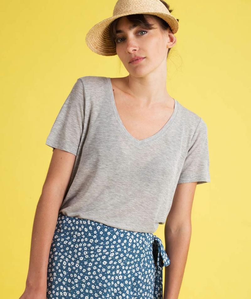 MINIMUM Jeanica T-Shirt grey melange
