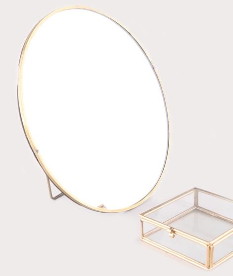 MADAM STOLTZ Round Mirror 27cm ant.brass