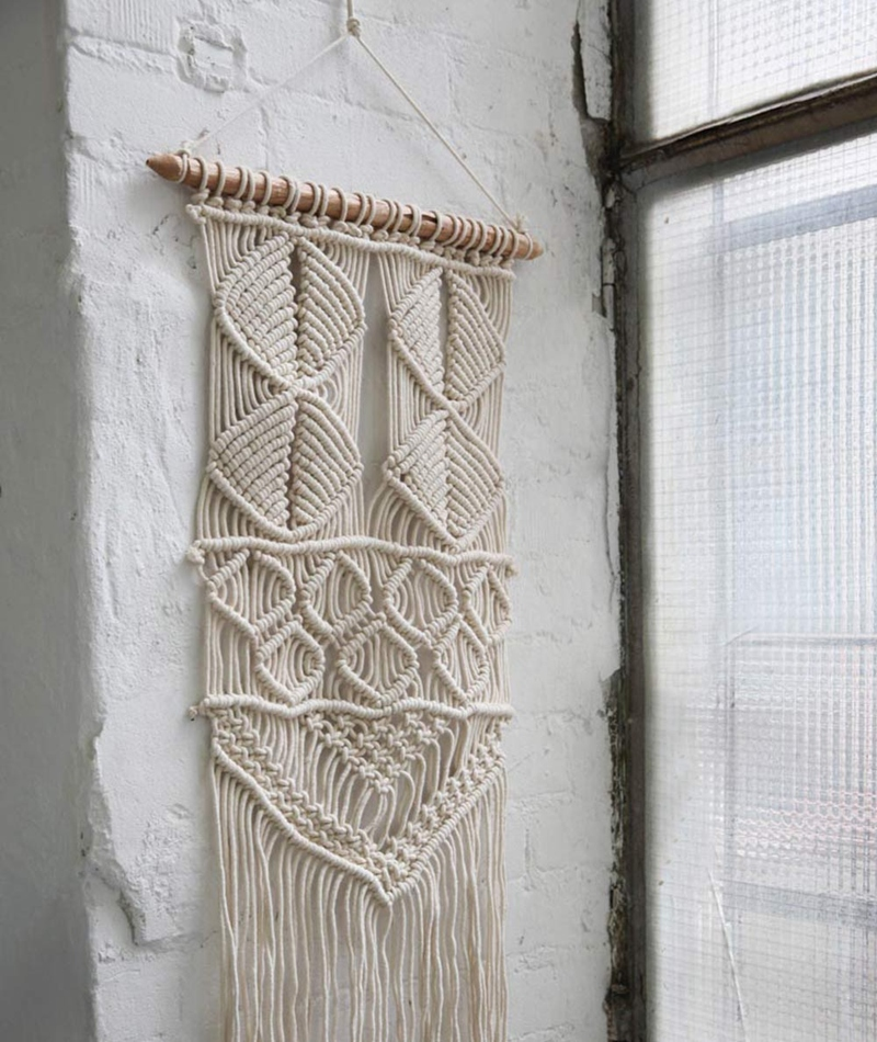 LIV Macrame wallhanging FAN natural