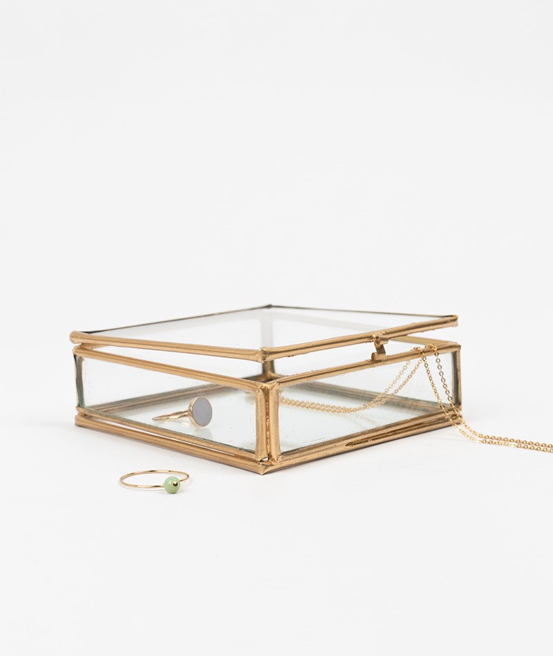 MADAM STOLTZ Quadratic Glass Box