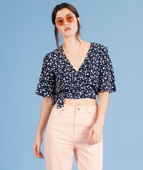 MINKPINK Shady Days Wrap Crop Bluse mult