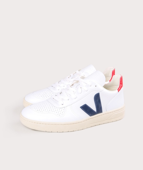 VEJA V-10 Leather Sneaker extra white n
