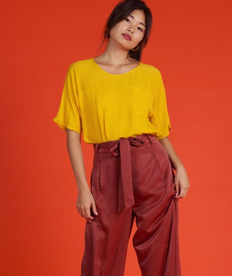 ANOTHER LABEL Gusta S/S Bluse golden rod