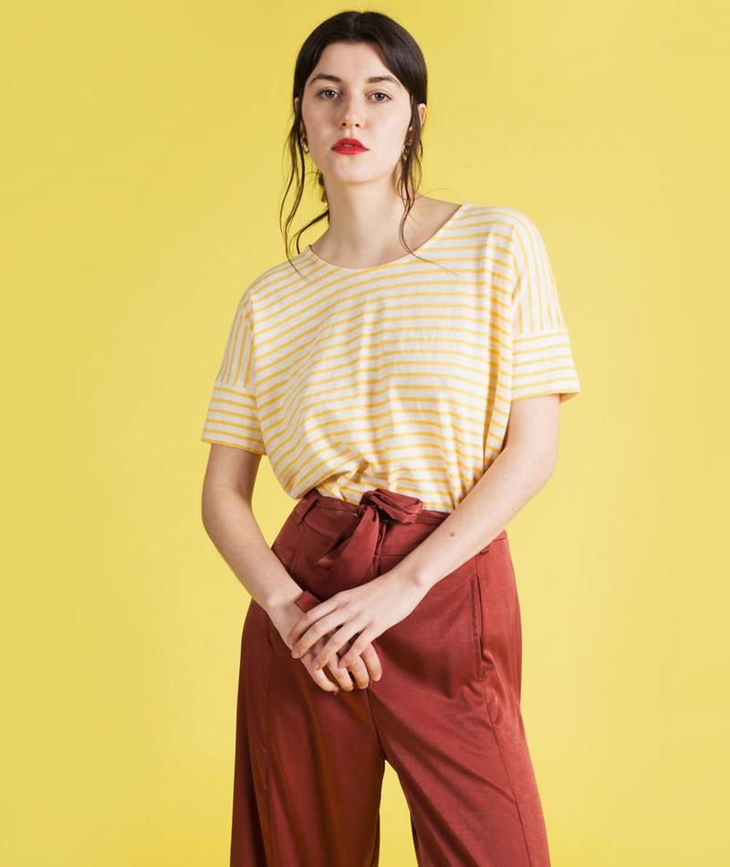 KAUF DICH GLÜCKLICH Füzun T-Shirt yellow