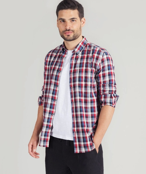 BEN SHERMAN LS Gingham Hemd red