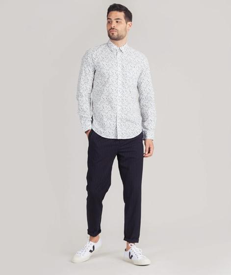 BEN SHERMAN LS Floral Hemd white