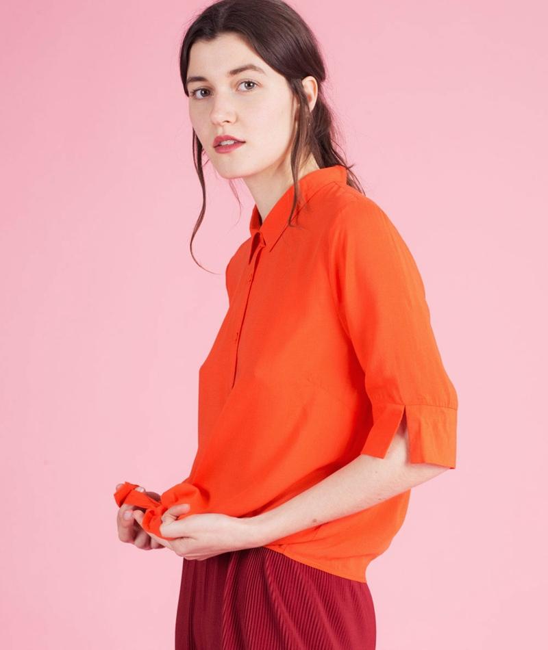 ANOTHER LABEL Kearney Bluse orange red