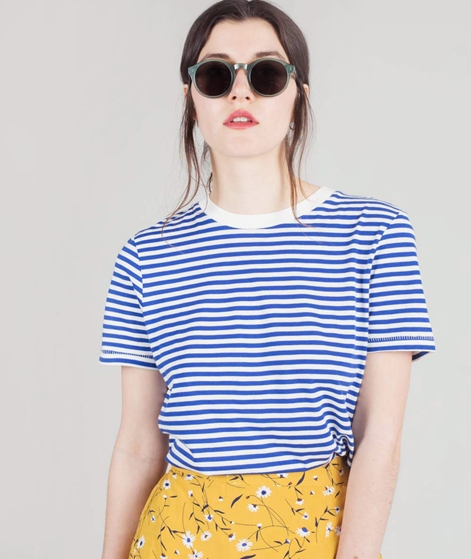 SELECTED FEMME My Perfect T-Shirt blue striped