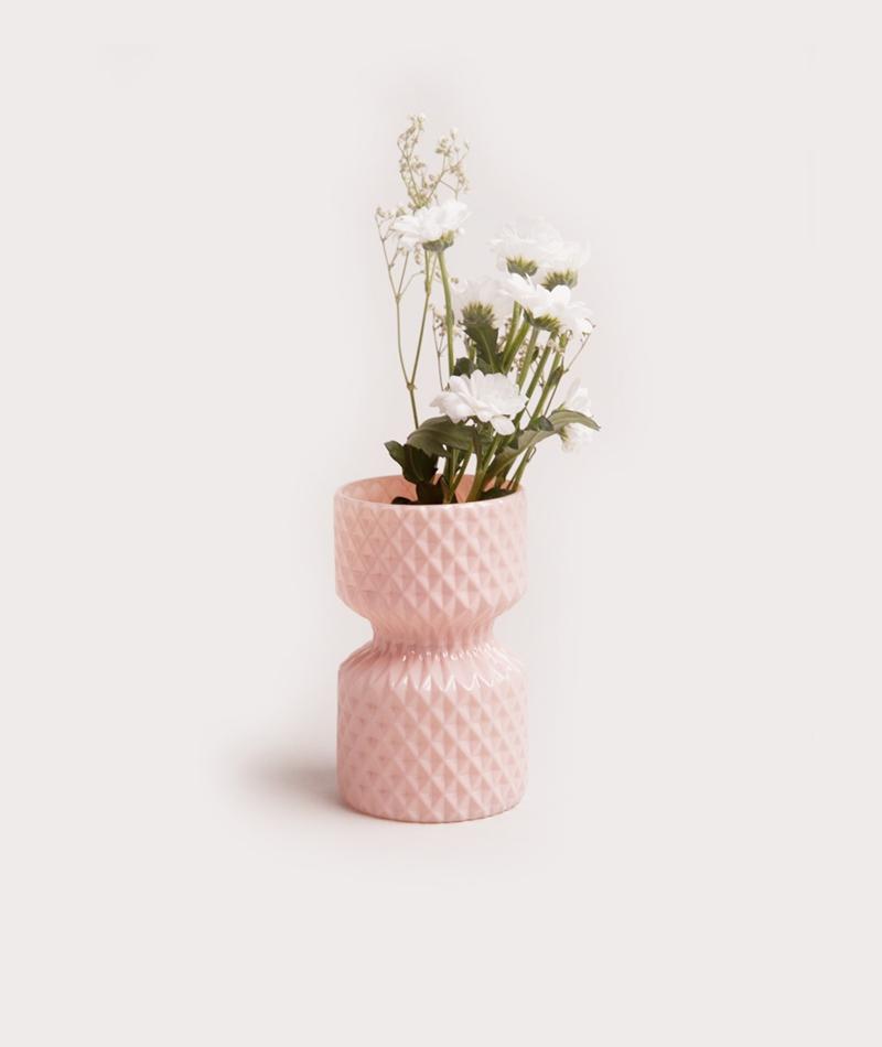 BLOOMINGVILLE Glass Vase rosa