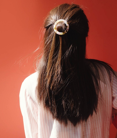 EBBA Erle Hairclip pearl/rose