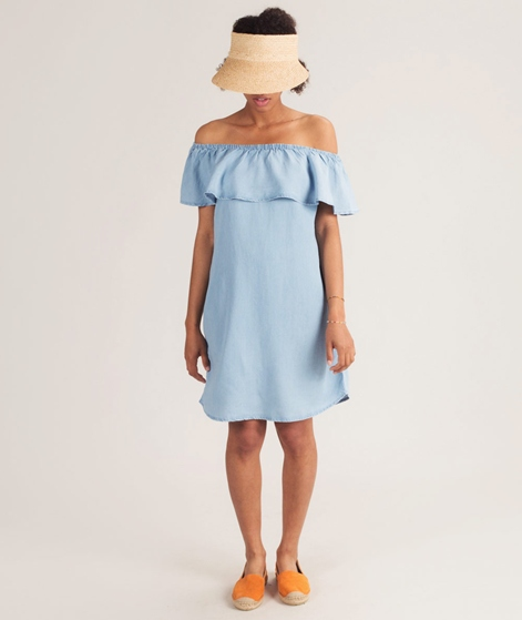 VILA Vigia Off Shoulder Kleid light blue