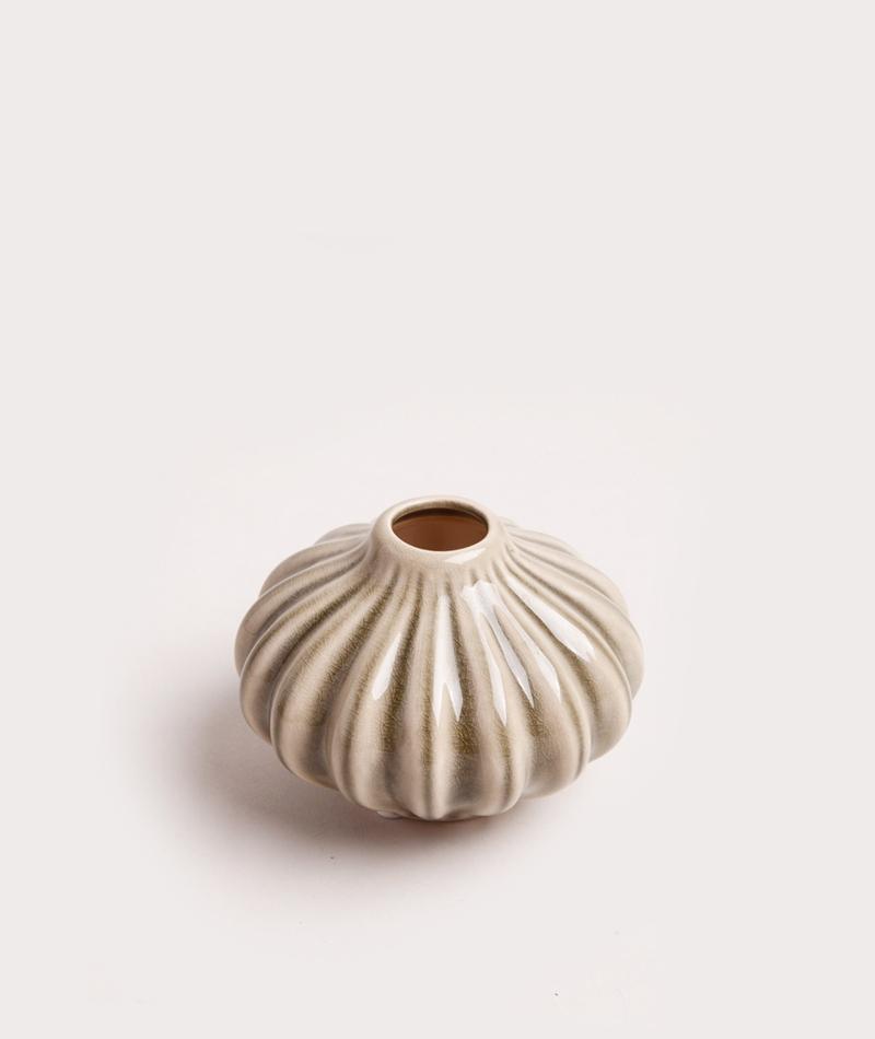 BROSTE Vase Amalie S flach