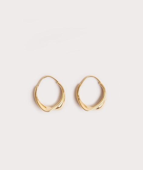 ANNA + NINA Twirl Hoop Ohrringe goldplat