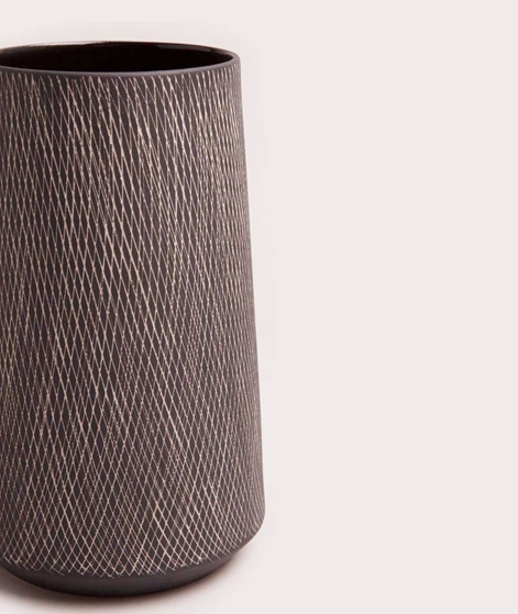 LIV Vase Carol groß schwarz