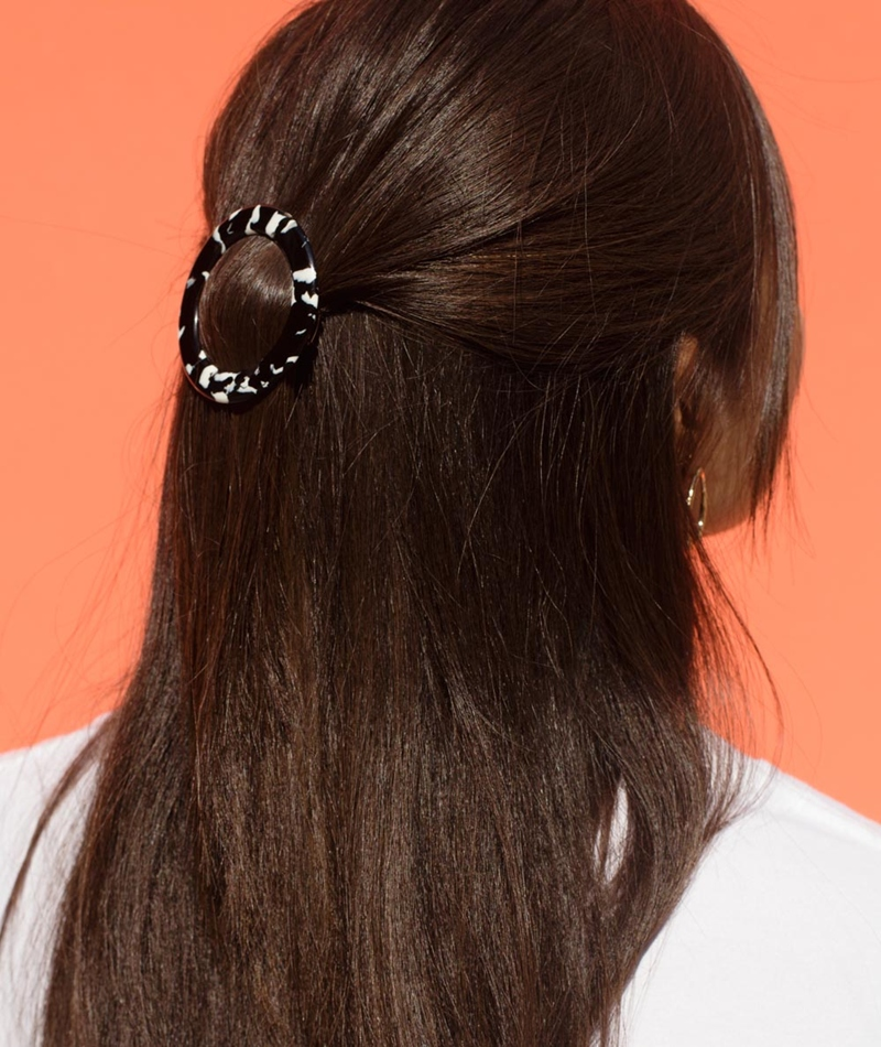 EBBA Erle Hairclip black/white