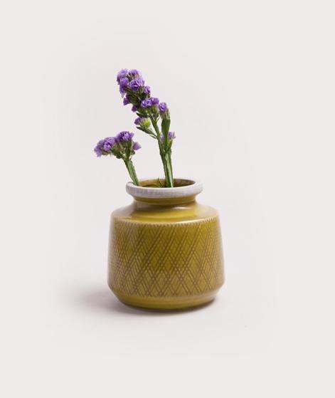MADAM STOLTZ Ceramic Vase mustard