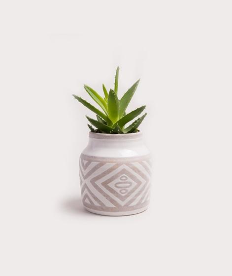 MADAM STOLTZ Ceramic Vase taupe