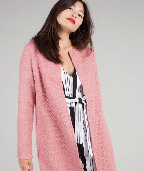 VILA Vinaja New Long Cardigan ash rose