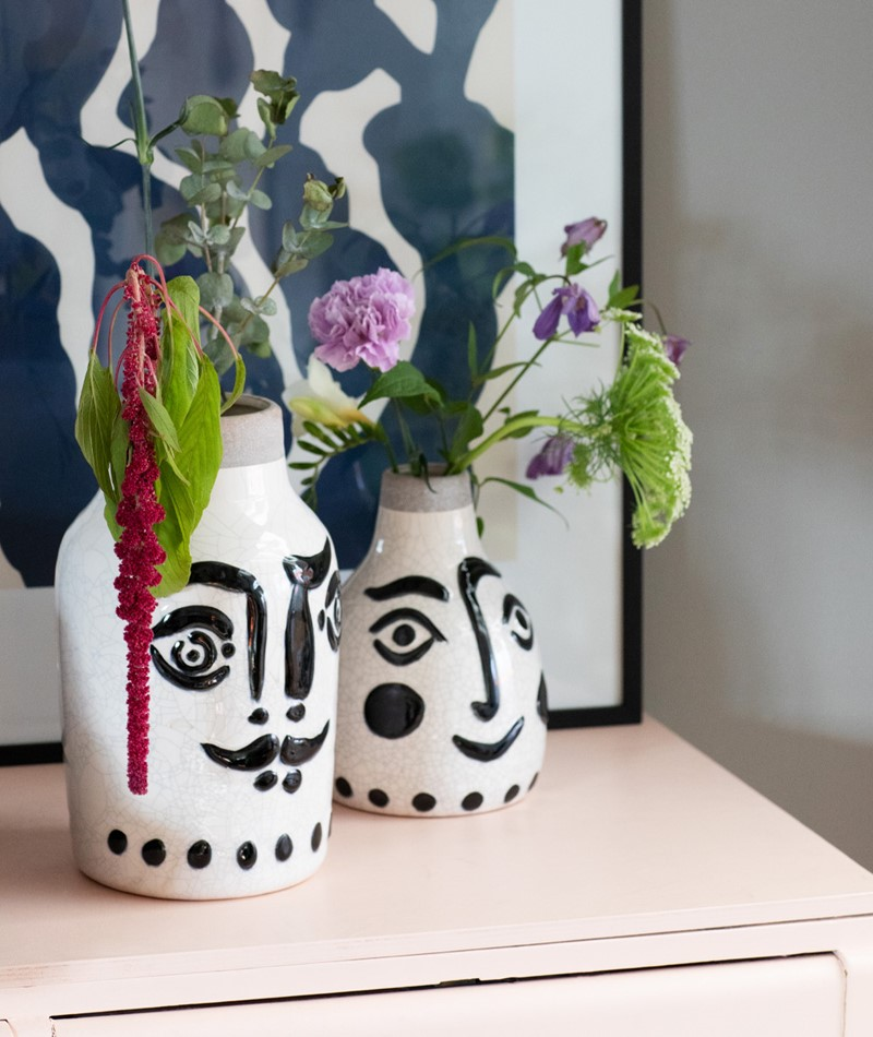 MADAM STOLTZ Ceramic Vase face