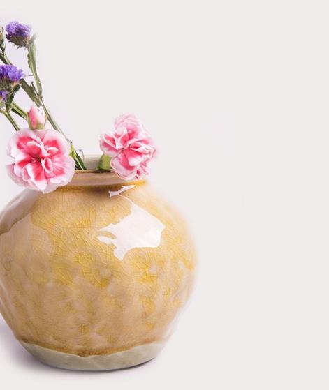 MADAM STOLTZ Vase mustard