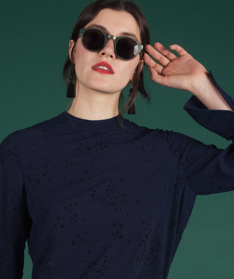 ANOTHER LABEL Lower L/S Bluse black iris