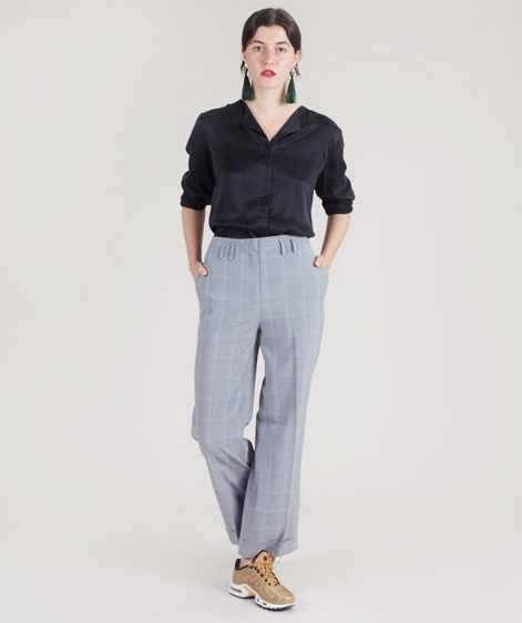 POP COPENHAGEN Sand-washed Bluse black