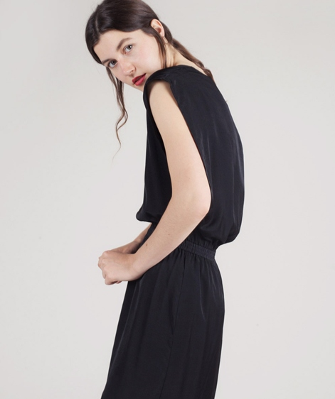 POP COPENHAGEN Layered Sheer Kleid black