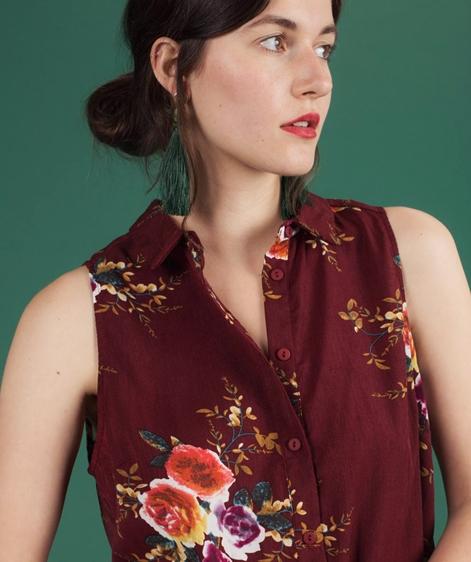 POP COPENHAGEN Floral Printed Bluse