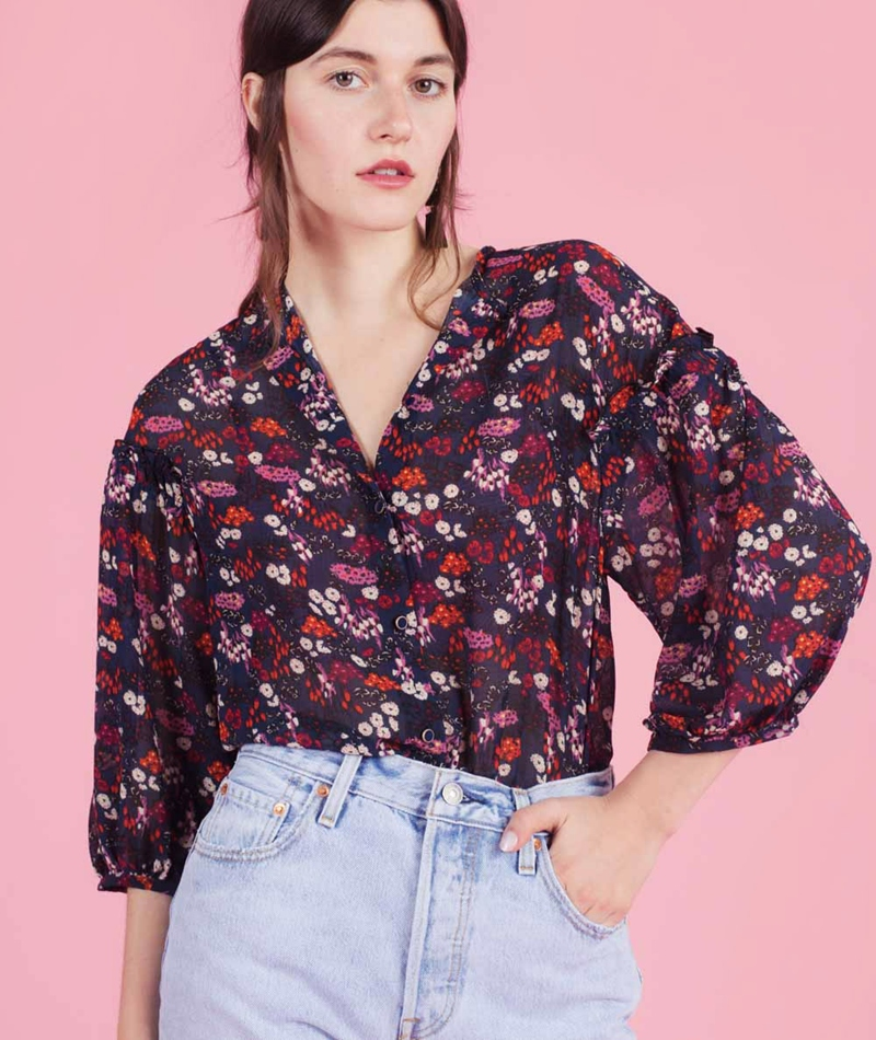 SESSUN Wisley Bluse navy