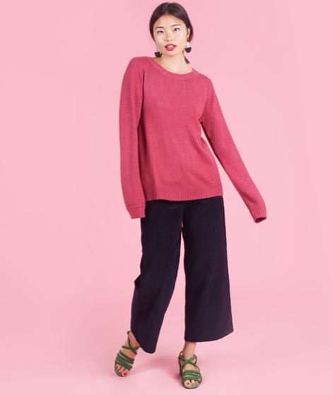 VILA Viril L/S Open back Pullover red