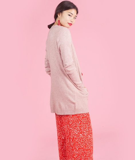 VILA Viril Open Cardigan ash rose melang