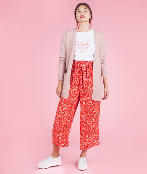 VILA Viril Long Cardigan ash rose melang