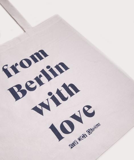 KAUF DICH GLÜCKLICH Jutebeutel Love weiß