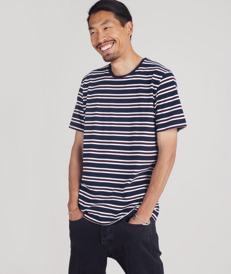 KAUF DICH GLUCKLICH Milo T-Shirt navy striped