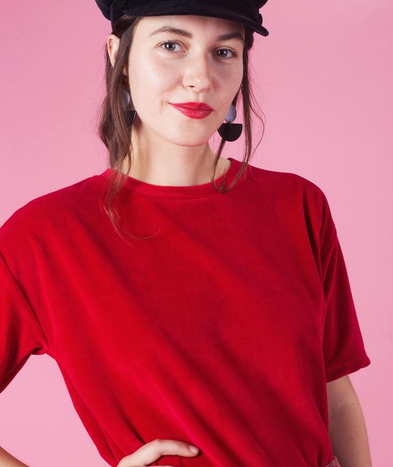 KAUF DICH GLÜCKLICH Alma T-Shirt cherry