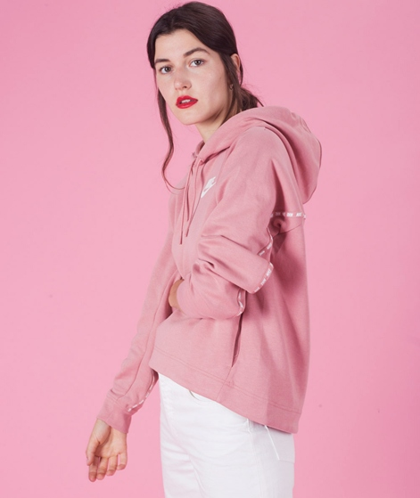 NIKE W NSW Optic Hoodie rust pink/sail
