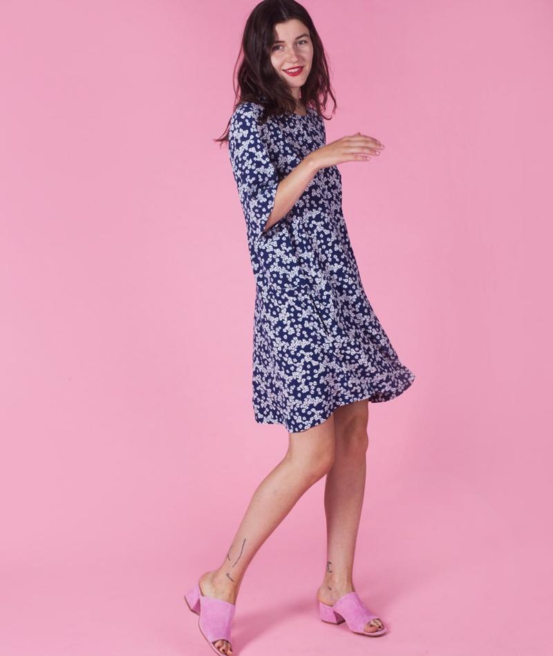 SAMSOE SAMSOE Adelaide Kleid daisy blue