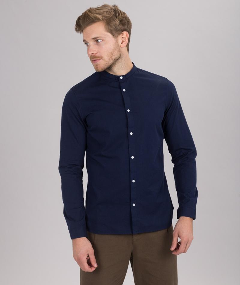 NOWADAYS Special mini Collar Hemd blue b