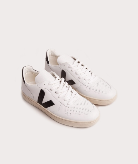 VEJA V-10 Leather Sneaker white black